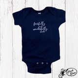 Infant E&G Onesie, Fearfully and Wonderfully Made, Navy