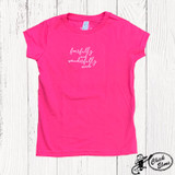 Toddler E&G Tee, Fearfully and Wonderfully Made, Pink