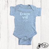 Infant E&G Onesie, Heaven Sent, Heather Gray