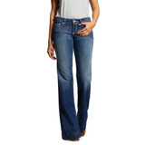 Women's Ariat Jeans, Sunset, Wide Leg Trouser, Cyane Medium Wash