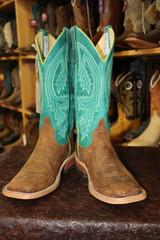 Men's Anderson Bean Boot, Havana Boar and Turquoise Shaft, Mad Dog Vamp