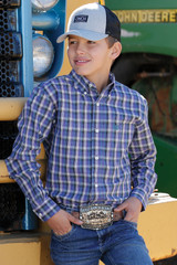 Boys Cinch L/S, Purple, White and Green Plaid