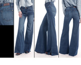 Women's Rock & Roll Jeans, High Rise Flare, Wide Leg, Medium Wash