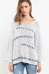 Women's POL Sweater, Zig Zag, Popcorn Style