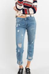 Women's POL Jeans, Distressed Boyfriend Fit