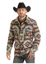Men's Powder River Jacket, Wool Commander, Aztec Jacquard