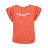Women's Wrangler Top, Terracotta, Ruffle Sleeve