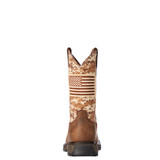 Men's Ariat Work Boot, Patriot, Sand Camo with American Flag