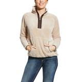 Women's Ariat Pullover, Dulcet 1/4 Zip, Beige Sherpa