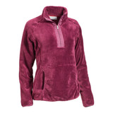 Women's Ariat Pullover, Dulcet 1/4 Zip, Grape Wine Sherpa