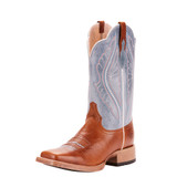 Women's Ariat Boot, Primetime, Ginger Snap and Baby Blue