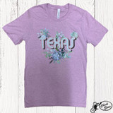 Women's Ranch Swag Tee, Texas Succulent, Lilac