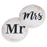 PGD Car Coaster Set, Mr. and Mrs.