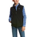 Boys Ariat Vest, Black Vernon 2.0, Softshell