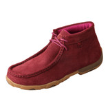 Women's Twisted X Driving Moc, Suede Wine, High Top