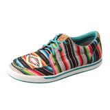 Women's Twisted X Shoe, Hooey Loper, Black Serape