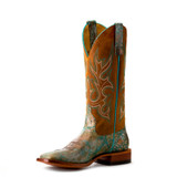 Women's Macie Bean Boots, Let's Take a Shelfie, Turquoise and Gold Vamp, Cognac Shaft