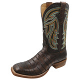 Men's Twisted X Boot, Chocolate Gator Print, Chocolate Shaft