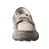 Kids Twisted X Driving Moc, Gray Boat Shoe, Eco