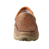 Women's Twisted X Driving Moc, Slip On, Tooled Brown Leather