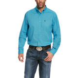 Men's Ariat L/S, Tasher, Bright Blue Print