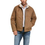 Men's Ariat Jacket, Grizzly Canvas Cub, Sherpa Collar