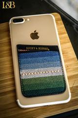 L&B Phone Wallet, Black Serape, Sticker