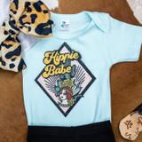 Baby Liberty Linens Onesie, Hippie Babe