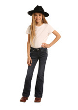 Girls Rock & Roll Jeans, Trouser, Dark Vintage Wash, Extra Stretch