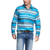 Men's Ariat L/S, Johndale Retro Snap, Blue Jay Aztec Print