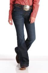 Women's Cinch Jeans, Lynden Trouser, Dark Wash, Flat Pocket