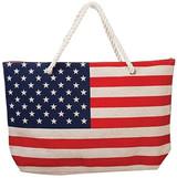 Ethel & Myrtle Tote, American Flag w/ Zipper