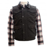 Men's Wyoming Traders, Vest, Nevada, Charcoal