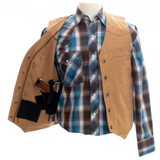 Men's Wyoming Traders Vest, Texas Tan, Concealed Carry