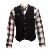 Men's Wyoming Traders Vest, Wool, Black