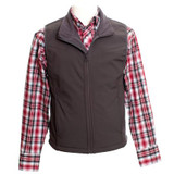 Men's Wyoming Traders Vest, Morgan, Gray Soft-Shell