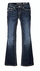 Girls Miss Me Jeans, Rose Gold