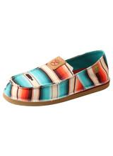 Women's Hooey Shoe, Slip On, Red and Blue Serape