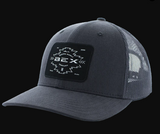 Men's Bex Cap. Yucatan Gray, Black Aztec Patch