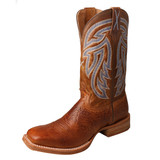 Men's Twisted X Boot, Rancher, Peanut Vamp with Blue Stiched Top