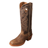 Men's Twisted X Boot, Buckaroo, Cracked Brown Vamp, Brown Shaft
