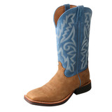 Men's Twisted X Boot, Ruff Stock, Blue Shaft with Light Brown Vamp