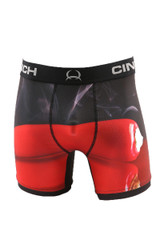 "Men's Cinch Briefs, 6"" Chili Pepper, Red and Black"