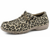 Women's Roper Shoes, Leopard, Elastic Laces