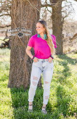Women's Crazy Train Jeans, Damsel in Distress, Light Wash