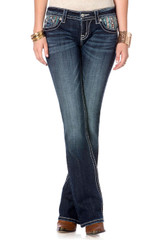 Women's Miss Me Jean, Flower and Sequin Pocket