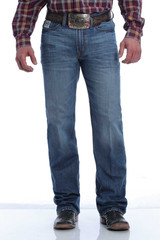 Men's Cinch Jeans, White Label, Medium Wash, Brown Stitch on Pocket