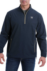 Men's Cinch Pullover, 1/4 Zip, Navy with Gold Accents