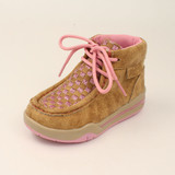 Toddler Twister Shoes, Lauren, Pink Quilted with Light Up Sole