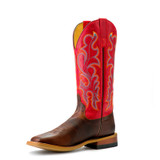 Women's Macie Bean Boots, Old Town Red, Distressed Brown Vamp, Apple Red Shaft